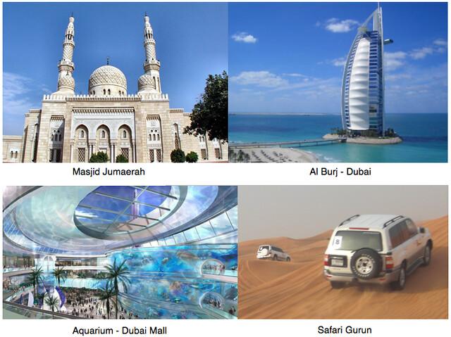Tur wisata Muslim Umroh plus Dubaii - Masjid-jumaerah Al Burj Dubai-Aquarium Dubai Mall Safari Gurun