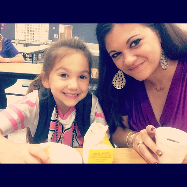 Muffins with my favorite girl this morning!