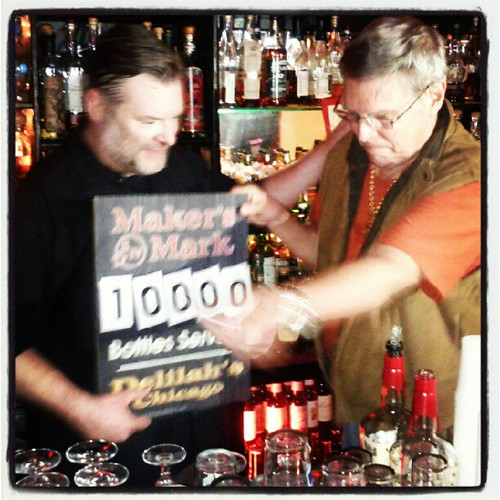 Delilah's 10,000th bottle of Maker's Mark