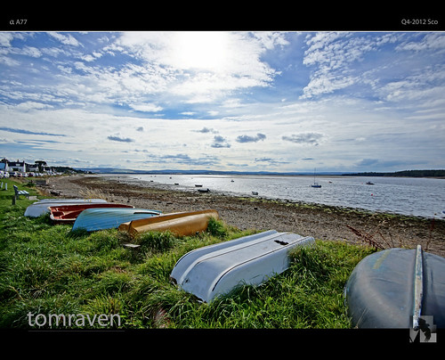 blue sky sun green water clouds boats bay scotland boat yacht sony sigma alpha moray a77 findhorn findhornbay tomraven aravenimage q42012