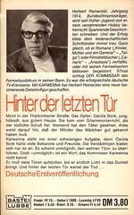 Herbert Reinecker: Karwenna - Hinter der letzten Tür
