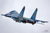 Sukhoi Su-27UB Flanker 75 BLUE Ukrainian Air Force