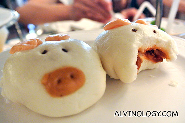 Pig-shaped char siew buns