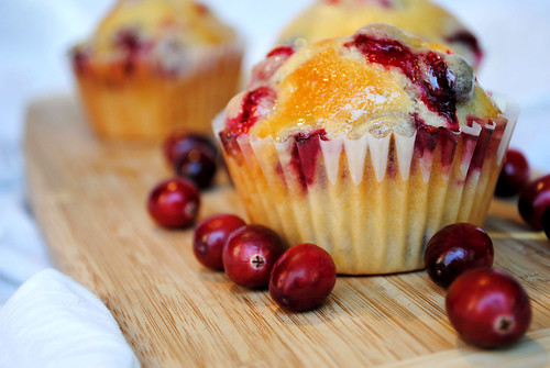 Lemon Cranberry Green Tea Muffins
