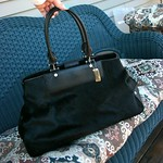 DKNY black pony hair bag