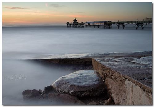 sunset pier long exposure jetty clevedon