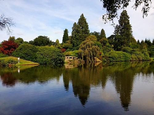 park uk trees lake reflection garden landscape sussex sheffield