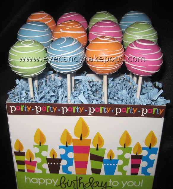 Cake Pops Ideas For Boy Birthday : Happy Birthday Cake Pops Flickr - Photo Sharing!
