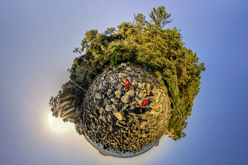 Tiny Planet - Jeongbang Falls