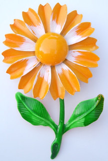 Vintage Orange Flower Enamel Pin62