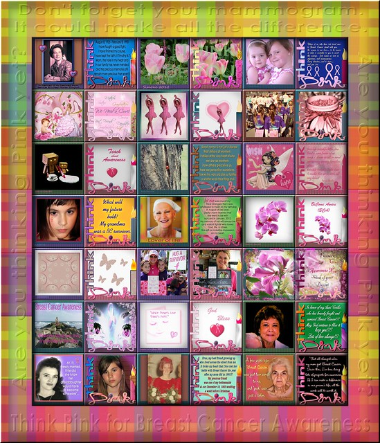 2012 Breast Cancer Awareness Quilt ~ the 5th annual digital BCA Quilt
