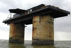 位於英國外海、總面積550平方公尺的西蘭公國。圖片取自西蘭公國粉絲頁。