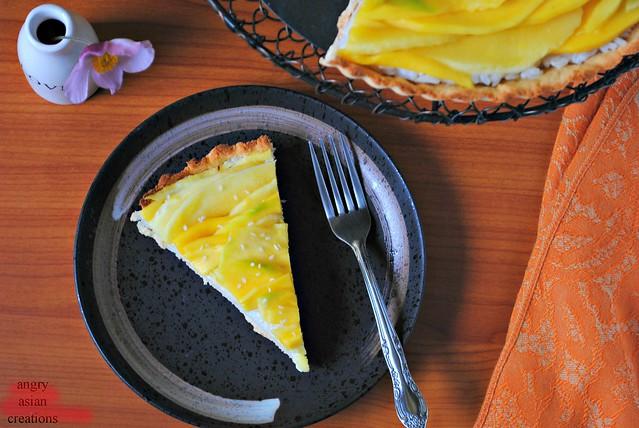 rice + mango tart