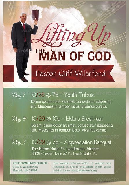 pastor appreciation event program template inspiks market