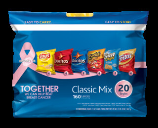 lays chips with pink ribbons