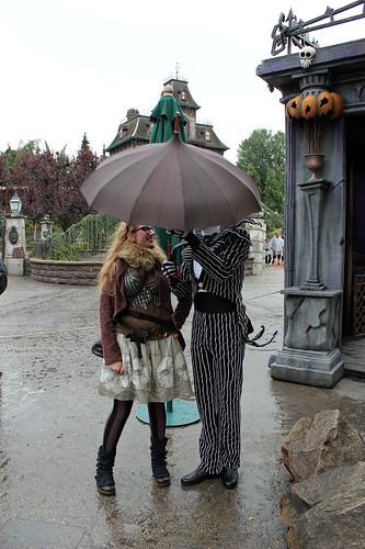 Jack inspects my umbrella