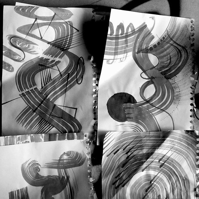 Scrawly Sketching.