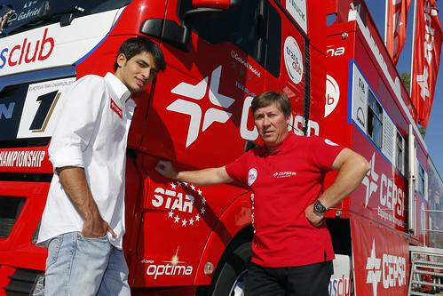Carlos Sainz Jr y Antonio Albacete