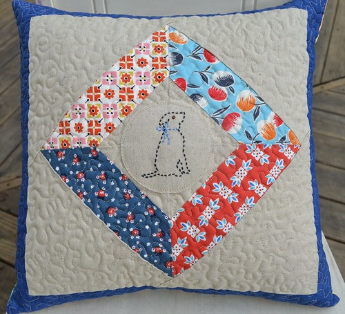Quilted Pup Pillow