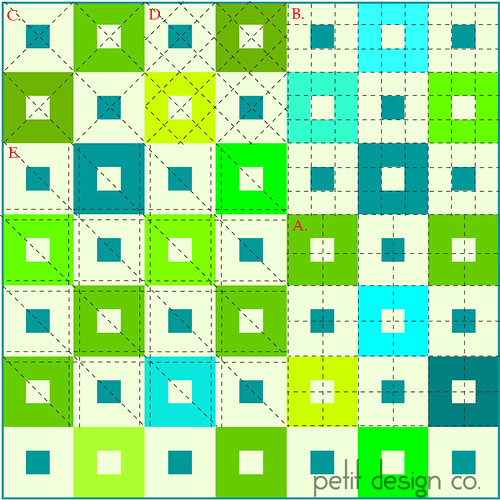 Grids - walking foot quilting