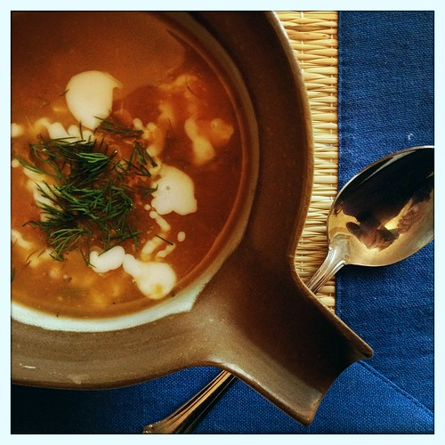 Roasted Tomato Dill Soup