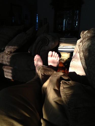 sunset feet