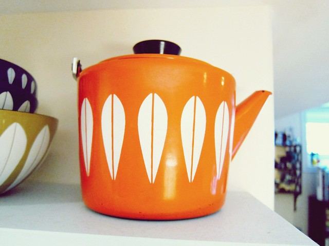 orange Cathrineholm teapot