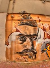 Portrait Escher on the Wall,Graffiti,Leeuwarden,the Netherlands,Europe
