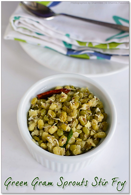 Sprouted Green Gram Stir Fry Recipe