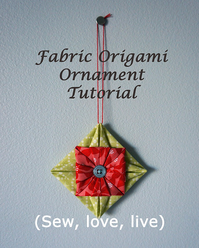 Origami fabric ornament tutorial