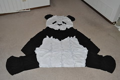 Fleece Panda Throw
