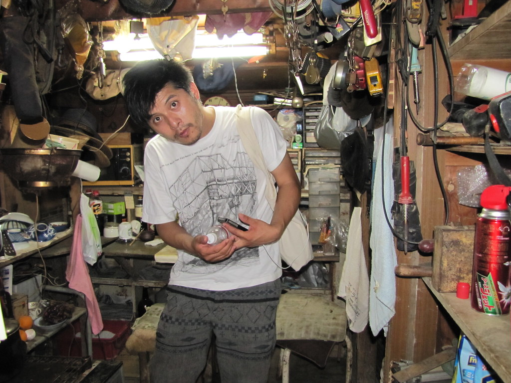 "Kyohei Sakaguchi, in one of the ""zero yen houses."""