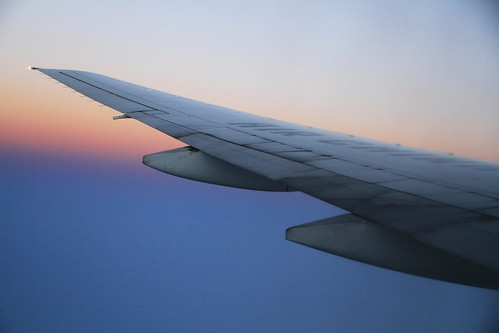 china travel sky window sunrise airplane flying asia view aircraft seat flight wing airchina b772