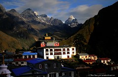 Monastery greets sunrise whilst secluded in the Himalaya's