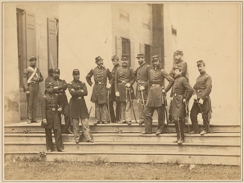 Field and Staff, 8th N.Y. State Militia, Arlington House, Virginia