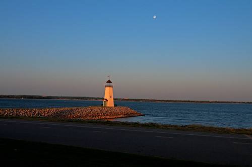 Lake Hefner Lighthouse at Sunrise