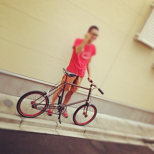 BYOB factory のお客様で初めての完成車が誕生! シングルミニ!  完成してすぐ、Bicycle plus の取材です。おめでとうございます! by Sunrise cycles
