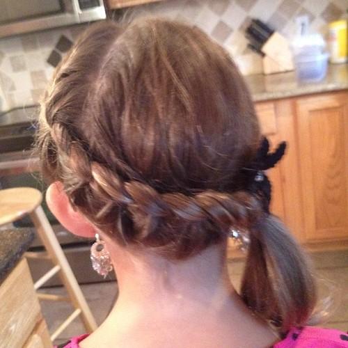 Karli's hair for 3 Grade! LOL