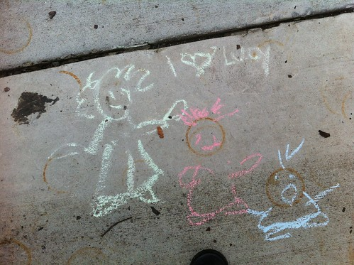 Chalk Drawing at Emma Key's
