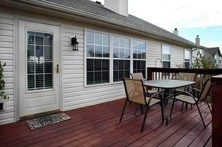 Freshly stained deck at 5214 Craigs Creek Drive