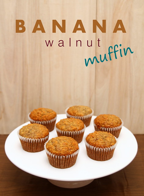 Moist Banana Walnut Muffin