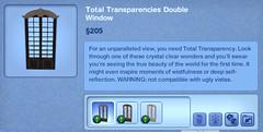 Total Transparencies Double Window