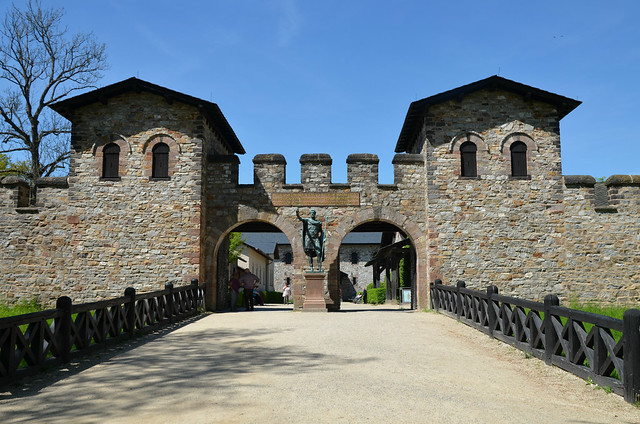 The Porta Praetoria (Main Gate), Saalburg Roman Fort, Limes Germanicus, Germania (Germany)