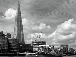 The Shard and Belfast (BW) EM5 August 2012