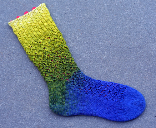 Coupling - first sock done