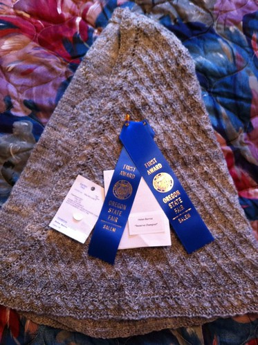 On the Moors shawl won First place and Reserve Champion at 2012 Oregon State Fair. by BlueDragon2