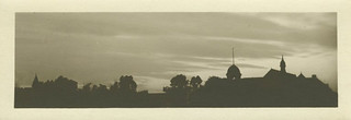 A silhouette shot of  how the campus looked in 1912.