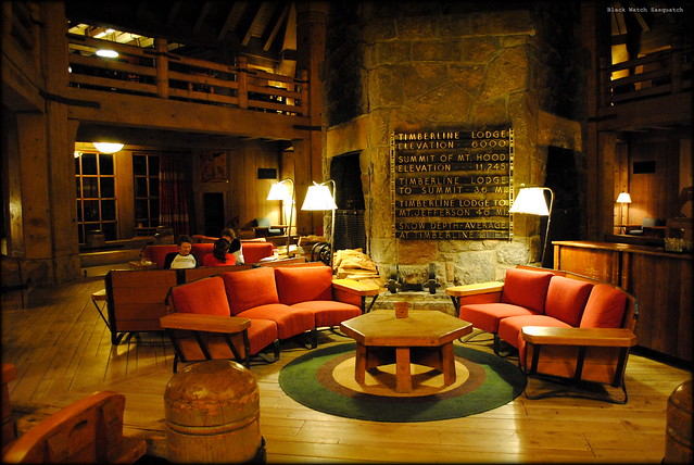 Second Floor Lobby at Timberline Lodge