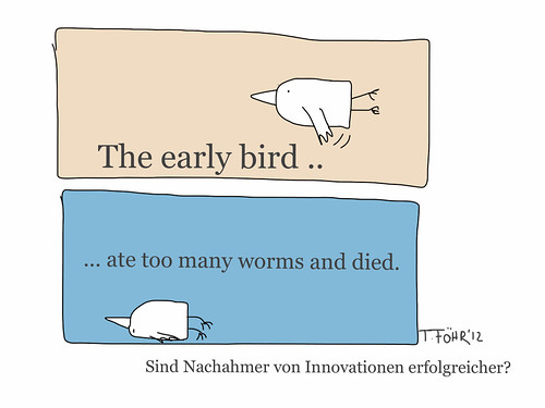 the early bird ate too many worms and died by Tanja FÖHR