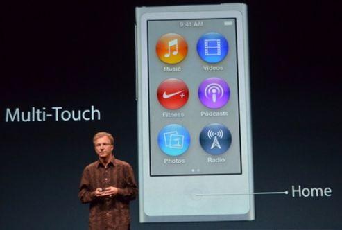 Кнопки и мультитач iPod nano